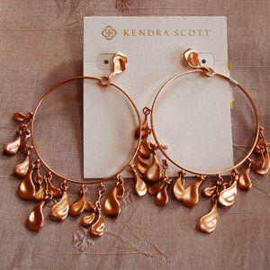Kendra Scott Natasha Rose Gold Hoop Earrings
